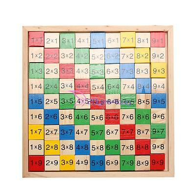 Kids Child Educational Wooden Multiplication Double Side Math Table Counting Toy
