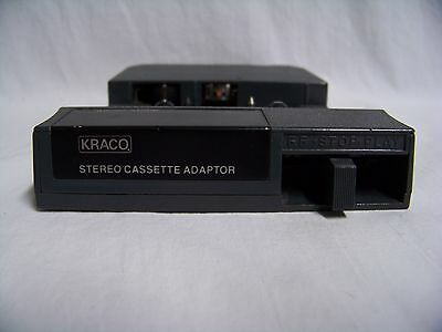 Kraco Stereo Cassette Adapter For 8-Track Players Used Model Kca-7 Works