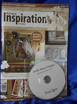 Debbi Moore Inspiration Craft Magazine with Pixie Land Craft CD 20 Free Papers