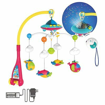 Huanger Hanging Toy Projection Baby Crib Musical Mobile with Lights and Remote
