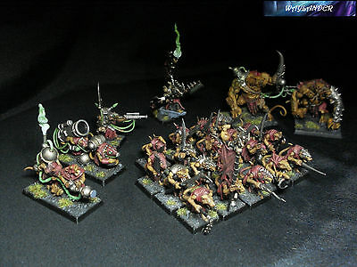 Warhammer Skaven Isola del Sangue/Skaven Army Island of Blood Pro Painted