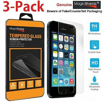 Genuine MagicShieldz®  Real Tempered Glass Screen Protector for  iPhone 5 5S 5C