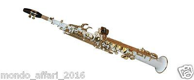 Sassofono sax Soprano Karl Glaser Germany saxello Bianco  Custodia Top Quality