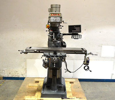 """Clark 49""""x9"""" Variable-Speed Milling Machine Mill NEW DRO X-Axis-Power-Feed X-Y-Z"""