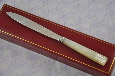 Great Mother Of Pearl & Silver Blade Letter Opener London 1816