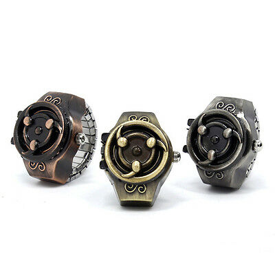 Fashion Character Vintage Men Creativity Naruto Finger Ring Quartz Watchs