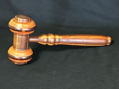 """Vintage Multi~Color Wooden Wood Gavel Auctioneer Judge Call to Order! 12"""" long"""