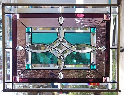 """Stained  Glass Window Hanging 22 X 16 3/4"""""""