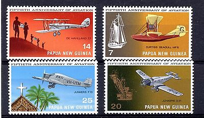 Papua & New Guinea (9865) 1972 50th Anniversary of Aviation set Unmounted mint