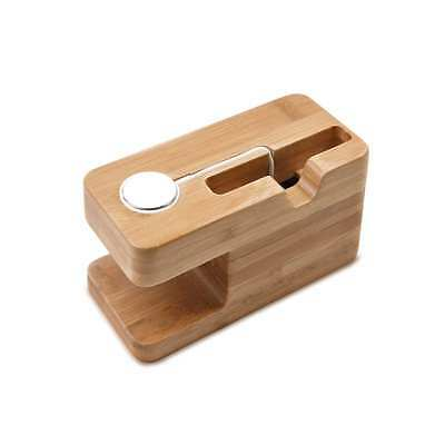 NEW Apple Watch Stand, MoKo Bamboo Wood Charging Dock Station Stock Cradle Hold