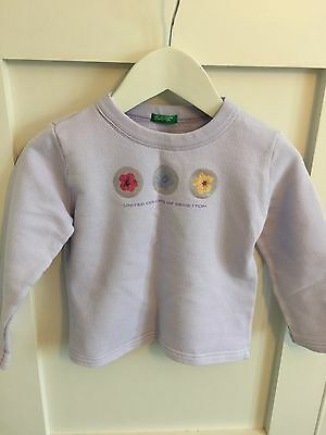 Little Girls Benetton Sweatshirt Age 2 /XXS