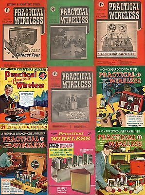 Collection of 57 + Practical Wireless & Vintage Audio Magazines