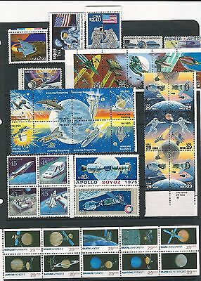 G302 USA  MNH space collection $25 face birthday gift postage stamps briefmarken