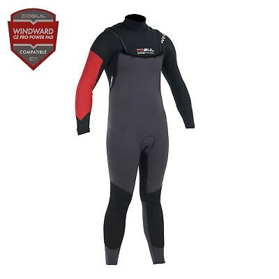 Gul PROFILE 3/2mm Windward Mens Zipless Steamer Wetsuit 2017 - Black/Graphite