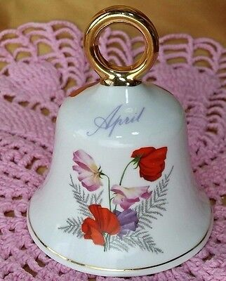 Collectible APRIL Bone China Bell Ashleydale England *et