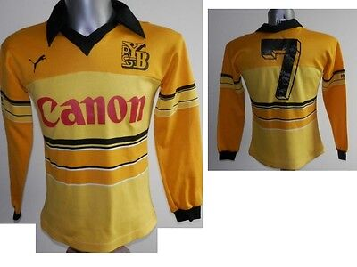 Ultra Rare 1981-83 BSC Young Boys #7 L/S Home Football Jersey Shirt - 3-4 XS / S