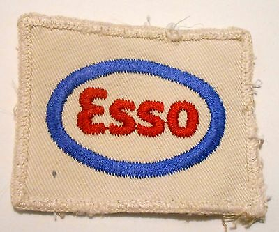 Esso Gasoline Patch Embroidered Oil 2-7/8 inches  vintage