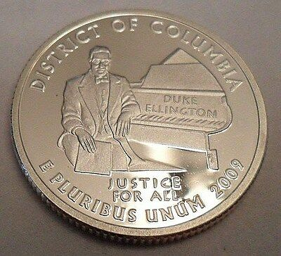 2009 S District Of Columbia (Dc)  *90% Silver Proof* Quarter **free Shipping**