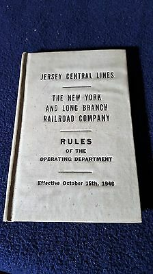 1946 Jersey Central Lines Rules of the Operating Department