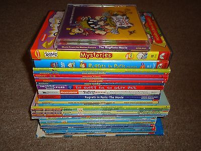 Lot 38 Nickelodeon Rugrats Books (35) DVDs (2) CD (1) in Paris Movie