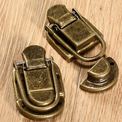 Vintage Suitcase Jewelry Box Lock Hasp Chest Closet Drawer Buckle Latch Clasp