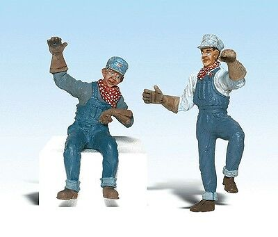 Woodland Scenics-Scenic Accents(R) Figures -- Earl & Eddie Engineer - G