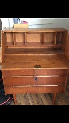 Mid Century Writing Bureau , Teak? Retro Vintage Furniture