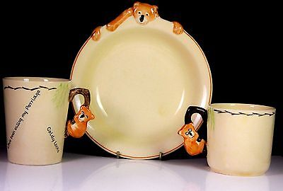 Rare Goldy Locks Brentleigh Ware Baby Ware By Pam C.1940 Nursery Childrens