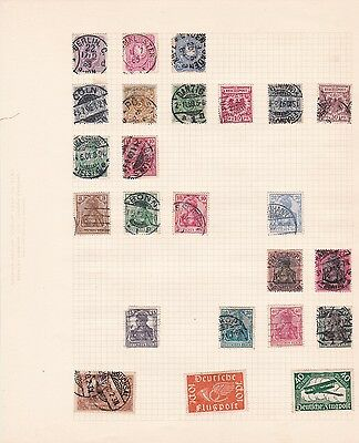 twelve album pages of german stamps mint and used ref r729