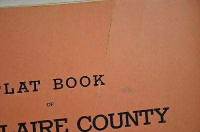 1945 Plat Book of Eau Claire County Wisconsin Atlas Maps  1388