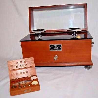 Henry Troemner Apothecary Pharmacist Balance Scale & Christian Becker Weights