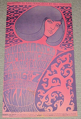 Young Rascals+The Doors+Sopwith~Rare 1967 Original Bill Graham Fillmore Poster