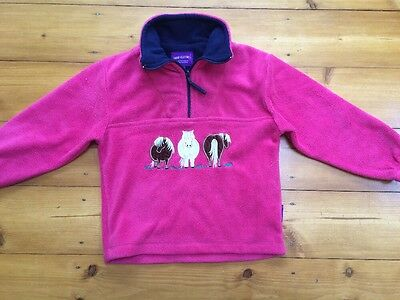 Shire Classics Children's Pink Horse  Jumper Size M / 6-7 Yrs