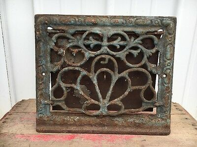 Cool Vintage Vent Cover Cast Iron Blue/Grey