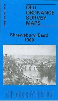 Old Ordnance Survey Map Shrewsbury East 1900