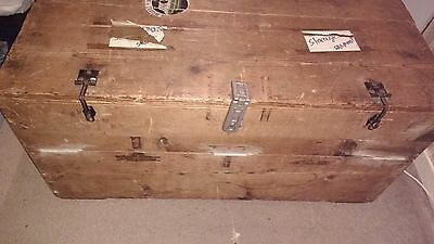 Large old antique vintage storage CHEST / Shipping trunk - Africa