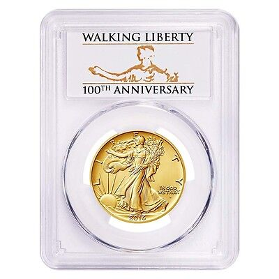 2016-W PCGS SP70 FS 1/2 oz .9999 Gold Walking Liberty Half Dolllar USA Made Coin
