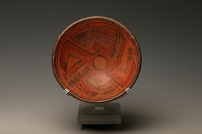 Pre-Columbian Costa Rica Nicoya Bowl With Dancing Figures 800 - 1200 A.d.