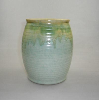 Large Remued Barrel Shaped Vase With A Small Collar Lip