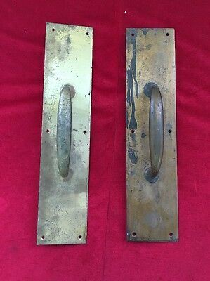 Lot 2 Large Vintage Brass Door Handle