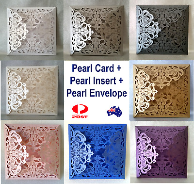 Best Quality 1/30/50 Premium Laser cut Wedding Invitations Card Insert Envelope