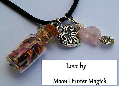 Love Charm Spell Necklace © 20+ years exp Attraction Heart Chakra Pagan Wiccan