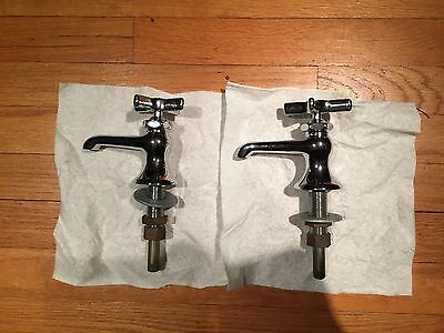 Vintage Chicago Faucets Chrome Hot & Cold Sink Faucets