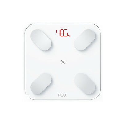400lb 180KG LCD Digital Bathroom Body Weight Scale Tempered Glass+Temperature