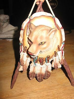 """Hamilton  Protection Of The Cougar """"sheild Of The Mighty Warrior"""" Sculpture Ln"""