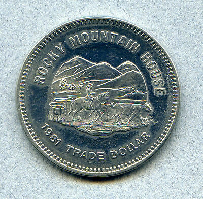 Canada Alberta Rocky Mountain House 1981 $1 token nickel 33.5 mm