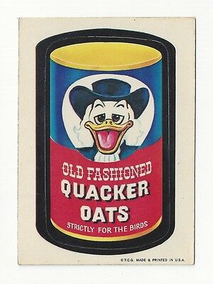 1973 Topps Wacky Packages 1st Series 1 QUACKER OATS glossy white back ex-