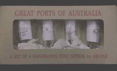 Port Sippers - Boxed Set of 4 - Hand Blown - Hanwood/Buller/Penfolds/Hardys