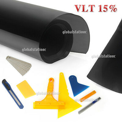 Window Tint Film 15% VLT Roll 760mm x 7m Car Home + Window Tinting Tools Kit AU