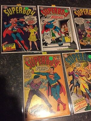 DC SILVER AGE SUPERBOY SUPERMAN COMIC LOT 9 Books 1966-1969 Free Shipping